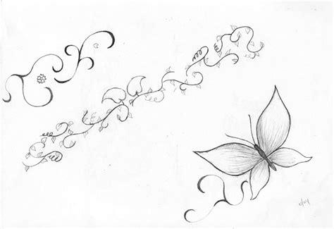 butterfly vine tattoo designs vine tattoos
