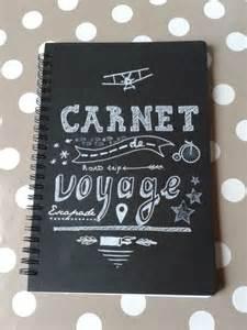 carnet de voyage chalkboard fait