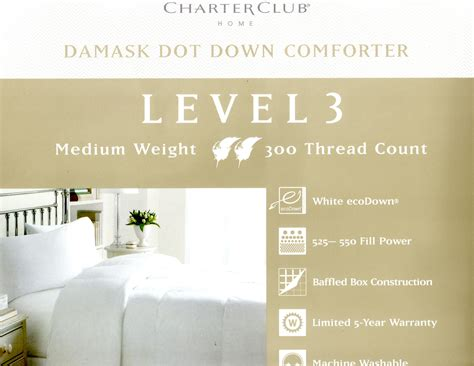 charter club down comforter level 3 charter club damask dot queen down comforter level 3