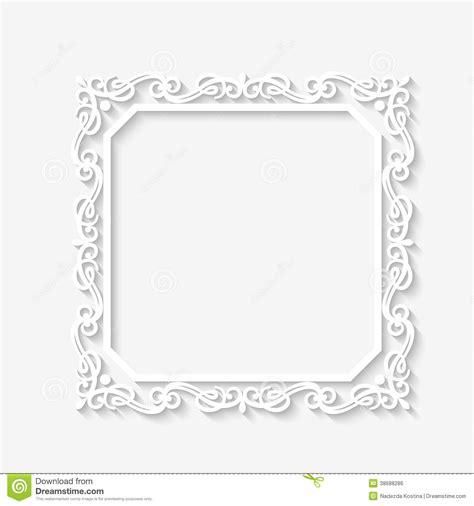 white pattern photo frame vector vintage baroque white frame stock vector
