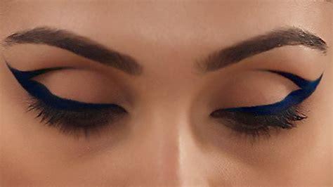 Cat Eye Blue Berkualitas cobalt blue cat eye makeup expert makeup tutorial