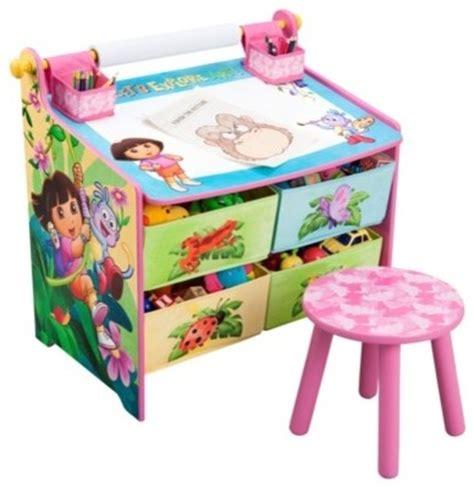 art desk for kids with storage nickelodeon dora the explorer art desk with storage