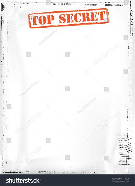 top secret report template top secret document stock photo 95110594