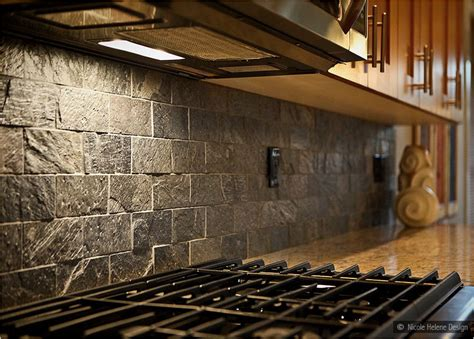 quartzite slate subway backsplash tile