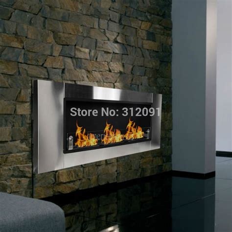 bio ethanol fuel fireplace free shipping 54 wall mount bio ethanol fuel real burner ventless fireplace insert for