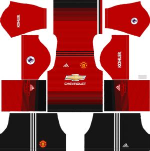 Goalkeeper Mu Away Ls manchester united kits logo 2018 2019 league soccer