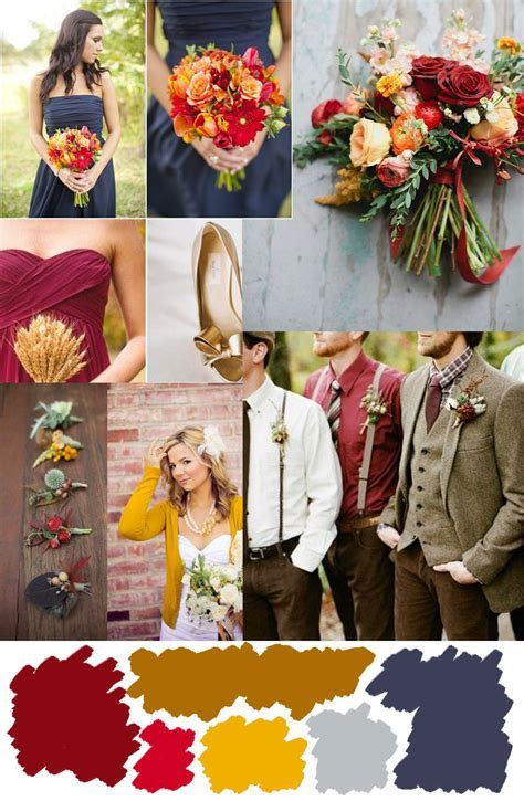 Wedding Wednesday: fall color palette inspiration   Alyssa
