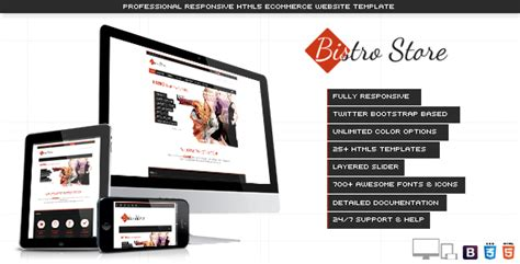 themeforest online store bistro store responsive ecommerce template by