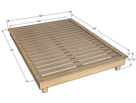 how to build a size platform bed frame best 25 platform bed plans ideas on