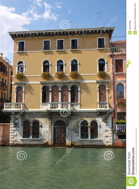 House Plans With Balcony Old House On Venice Canal Stock Photos Image 16424883