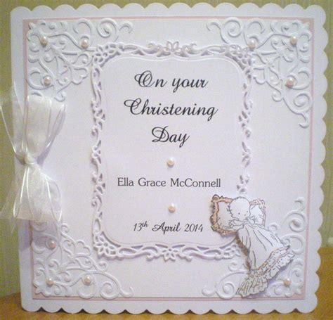 baptism place card template baby christening card using spellbinders baby image