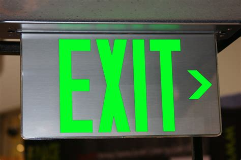Exit A exit signs