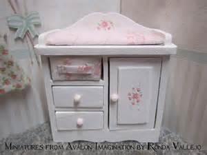 shabby chic nursery furniture miniature dollhouse 1 12 scale shabby chic nursery