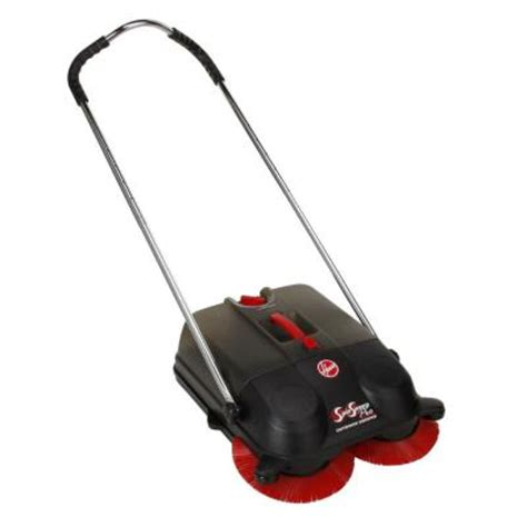 hoover commercial spinsweep 18 in pro outdoor sweeper