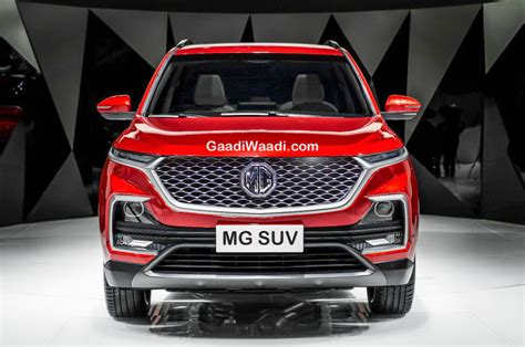 upcoming mg premium suv spied  india  test
