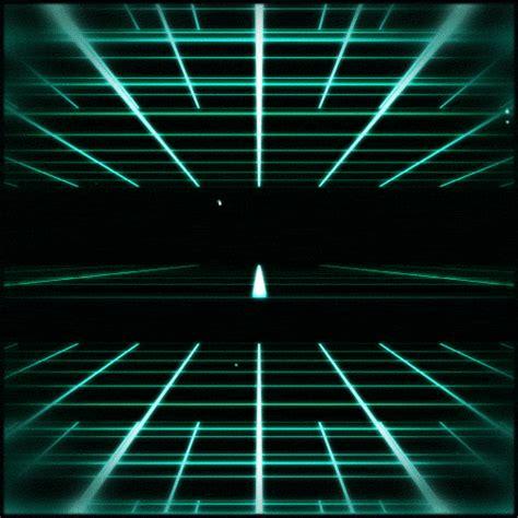 grid pattern gif tron effect tumblr