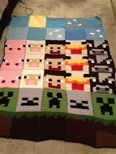 Minecraft Pillow Pattern by Minecraft Blanket On Minecraft Crochet