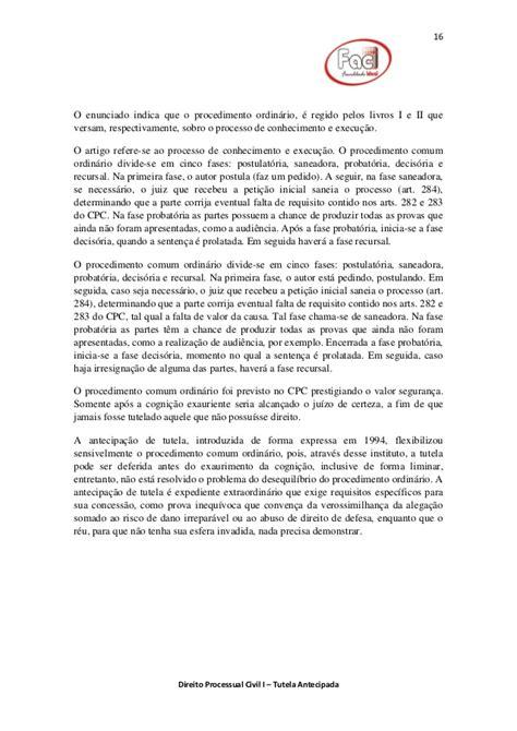 Tutela Antecipada Direito Processual Civil Seminario Prof