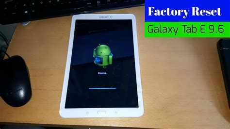 reset in samsung tablet samsung galaxy tab e 9 6 factory reset all samsung