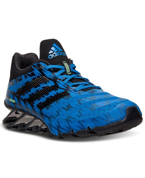 lyst adidas s springblade ignite running sneakers from finish line in blue for