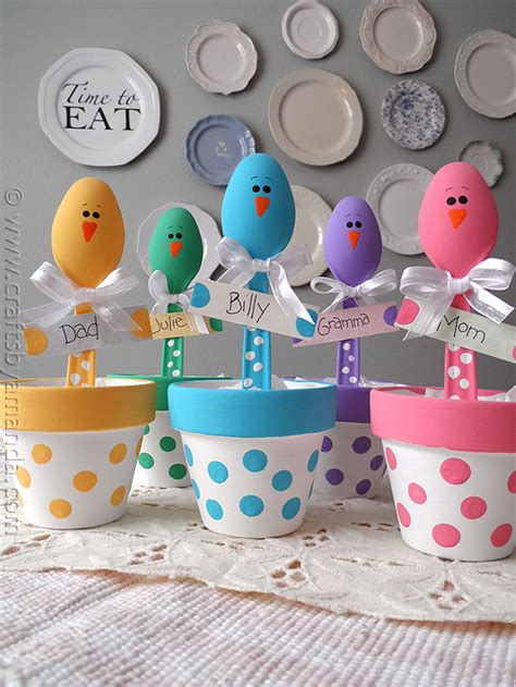 easter ideals easter chick craft colorful place holders