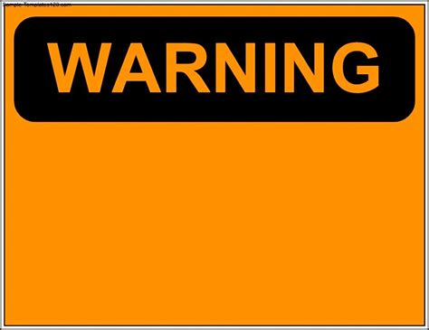 warning sign template sle templates