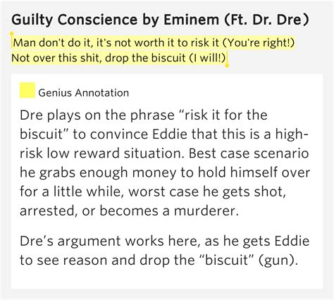 eminem guilty conscience lyrics man don t do it it s not worth it to risk it guilty