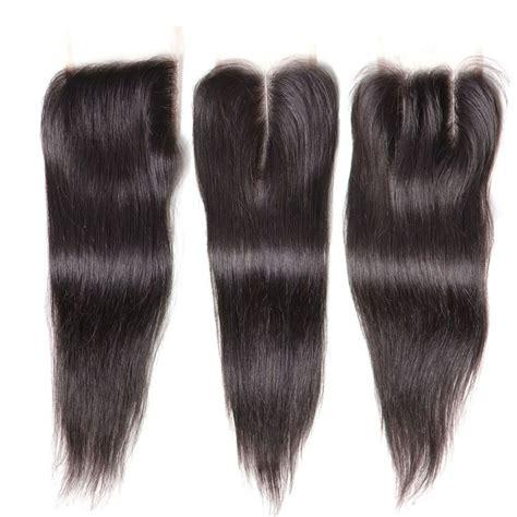 human hair lace closure nadula three part middle part and free part lace closure