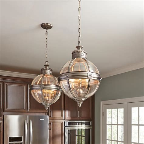 Antique Lantern Chandelier Feiss Pendant Chandelier 3 Light Globe Lantern Antique Nickel