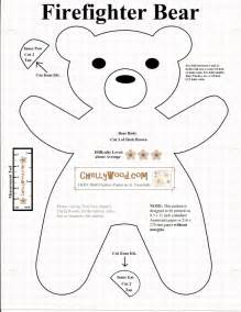 teddy sewing template free printable smokeybear or teddybear sewing pattern
