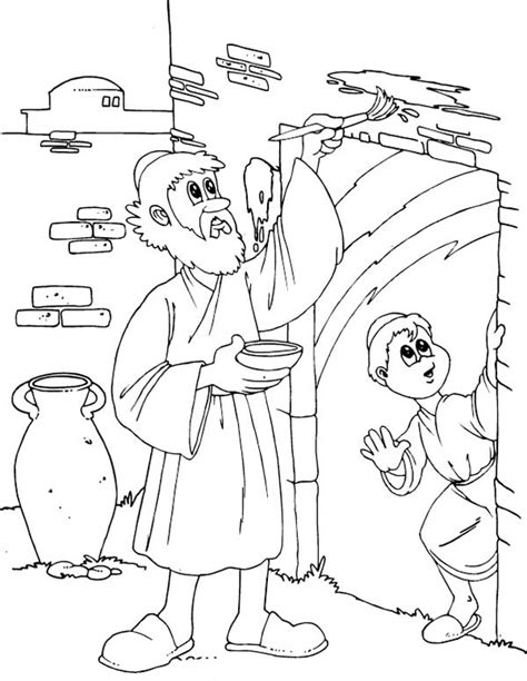 Children Of Israel Do The Gods Command To Mark Their Door Passover Coloring Pages
