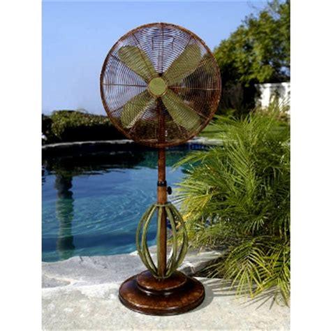 deco outdoor fan playa 19 inch deco adjustable outdoor standing fan