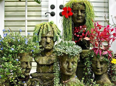 face planters vetsy s view diy garden head project