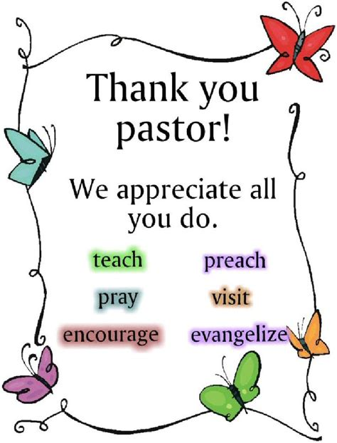 thank you letter to a pastor for preaching 67 best pastor appreciation images on