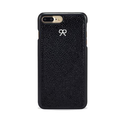 Iphone 7 Plus Leather Black iphone 7 8 plus in black stingray embossed leather