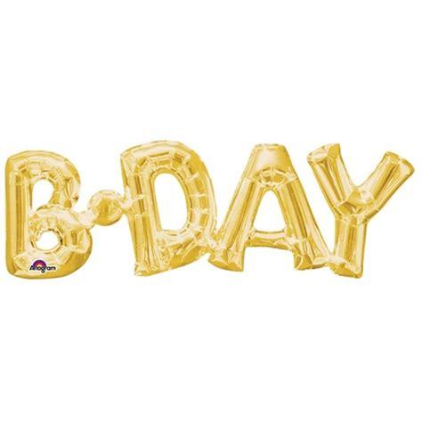 36 Gold Script Shape b day gold phrase shape s55 pkt balancebest