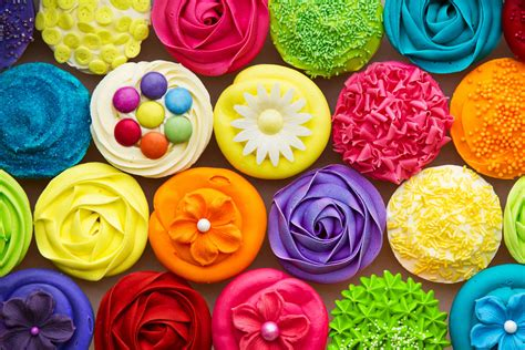 colorful cupcakes research proven weight loss food and plate color
