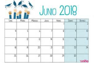 Calendario Junio 2018 Junio Calendario Escolar 2017 2018 Para Imprimir