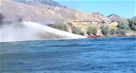 cigarette boat puts out fire in kamloops another man turns water craft into fire boat statter911