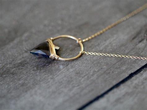 albatross necklace smoky quartz saressa designs