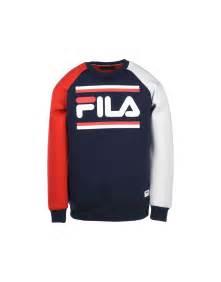 Jaket Fila Hoodie Jumper fila heritage zola graphic sweat sweatshirt blue
