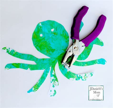 Paper Plate Octopus Craft - arts and crafts motor paper plate octopus