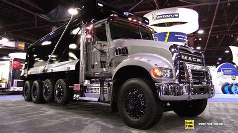 mack granite  daycab dump truck walkaround  nacv show atlanta youtube
