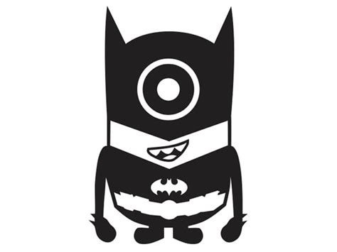 batman minion coloring pages batman minion vinyl decal kid ml5 1 by stickeesbiz on etsy