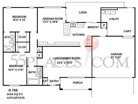 sun city west az floor plans h766 annapolis floorplan 1610 sq ft sun city west