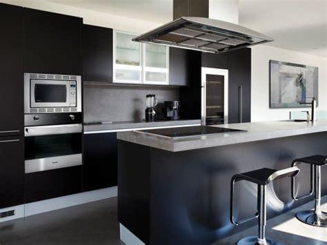 black cabinets with white appliances home design inside cuisine noire 28 id 233 es de design contemporain formidable