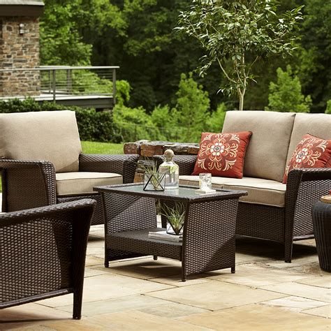 ty pennington patio furniture ty pennington style 65 512267f parkside 4 seating set sears outlet