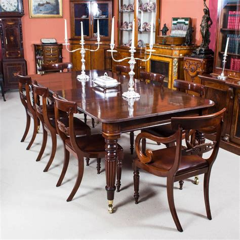regency dining room furniture antique regency mahogany dining table eight regency chairs