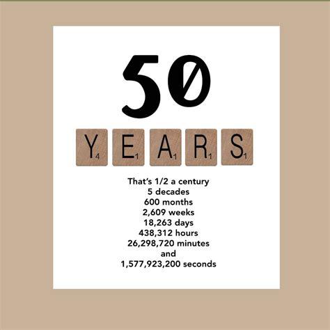 In 50th Birthday Card 50th Birthday Card Milestone Birthday Card By Daizybluedesigns