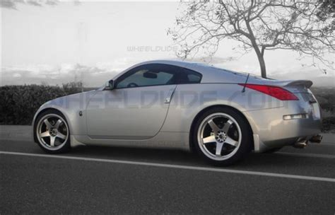 nissan 350z black wheels rota p45f wheels on 2008 nissan 350z wheeldude